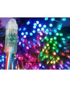 12mm WS2811 Diffused Thin Digital RGB LED Pixels, 50 PCS/String