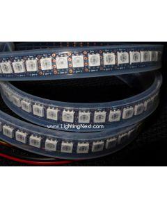 Bright 144 LED/m APA102 Digital Addressable RGB LED Strip, 1m, Black, 5VDC