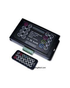 LED RGB IR Remote Controller, 5V~DC24V, 18 Programs, 83 Modes
