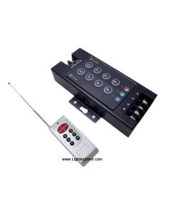 LED RGB RF Remote Controller for RGB LED Strips, 25 Built-in Color Programs