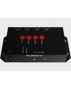 T-4000 LED SD Card Offline 4-Ports RGB Controller for Digital LED Strips/ Pixels