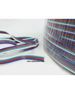RGB 4 Wire LED Strip Light Cable, 22 AWG, Sold By Meter