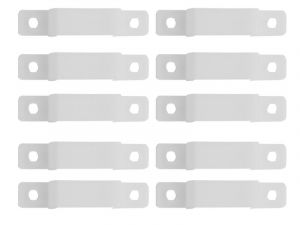 10mm/0.39inch Translucent Silicone Mounting Bracket for LED Strip Lights,10-Pack