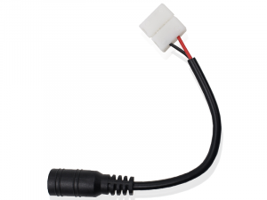 10mm 2-conductor Female DC Power Connector Adapter - LED Connector Cable for 5050 Single Color LED Strip Lights