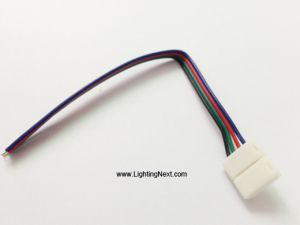 10mm 4-Pin Snap Solderless Power Connector for RGB LED Light Strips