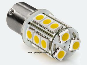 1142 (BA15D) LED Replacement Bulb, 18 SMD5050 LEDs Tower (2 Pack)