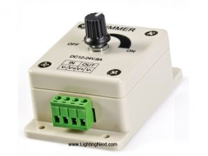 12~24 Volt DC Single Color Knob Control LED Dimmer