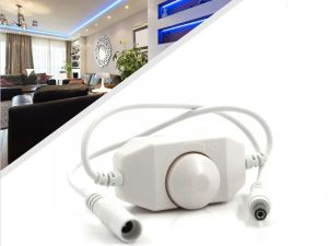 12 Volt DC In-line Wired Single Color LED Dimmer