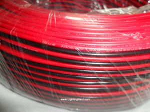 18 AWG Two Conductor Power Wire, Red/Black, Single Color LED Strip Extension Cable, Sold by Meter
