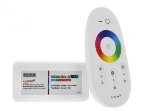 2.4G RGB Multi Zone Controller with RF Remote, 6A/CH, Smartphone or Tablet WiFi Compatible