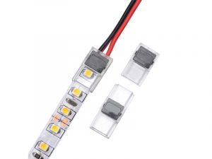 2 Pin 3528 8mm Strip to Wire connector for bare board monochrome LED light strip