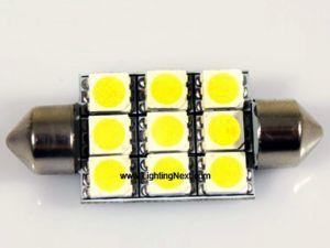 39mm LED Festoon Bulb with 9 SMD5050 LEDs