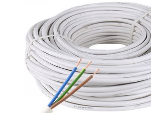 3-Pin 18/20AWG/3*0.5mm Copper Core RVV White PVC Jacket Waterproof Power Cable For 3 pin LED Strip Lighting, 1m by sale