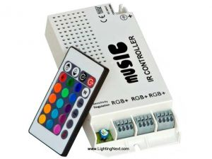 3 Ports Music RGB LED Controller with 24-Key IR Remote