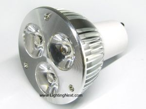 3 Watt GU10 LED Spot Light Bulb, Compares to 30 Watt Halogen
