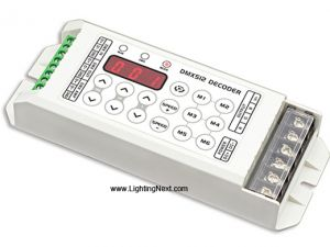 3CH RGB LED DMX Decoder with LCD screen, 8A/Ch, DC5V-DC24V