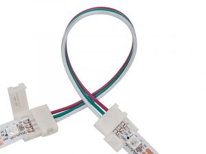 3Pin 10mm Wide Dual End with 15cm Long Cable LED Strip Solderless DIY Connector Adapter