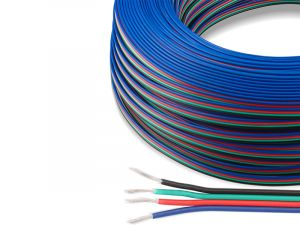 4 Pin 0.5mm Copper Core For DC12/24V RGB Color Change Flexible LED Strip Lighting, 1meter by sale