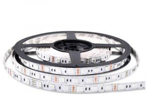 5050 RGB LED Strip, DC12V/24V, 60LEDs/m, 5M