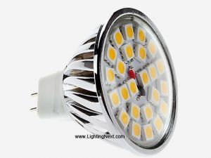 5W MR16 (GX5.3) LED Light Bulb with 24 SMD5050 LEDs