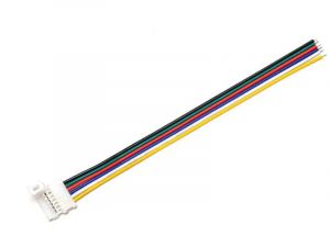6-pin LED solderless connectors for 5-in-1 LED strips, strips to wire