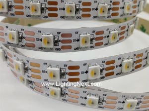 60 LED/m SK6812 Digital Addressable RGBW LED Strip, 5VDC, 4m/roll, Sold by Roll