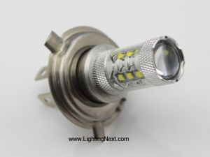 80W CREE White H4 DRL Daytime Running Fog Light Bulb - Pair