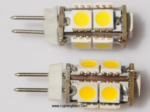 Back Pin Tower G4  LED Bulb, 12V DC,  9 Tri-Chip 5050 SMD LEDs