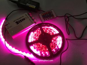 Color Changing RGB LED Strip Kit with Music Controller and Power Supply
