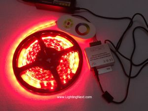 Color Changing RGB LED Strip Set with RF Touch Controller and Power Supply