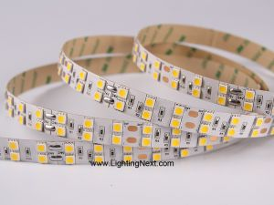 Double Row SMD 5050 LED Flexible Strip, 126 LEDs/m, 5m/roll, 12 VDC