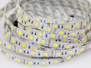 Dual Chip Color Temperature Adjustable SMD5050 LED Strip, 60LEDs/m, 5m, 12/24V DC