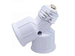 2 in 1 to E27 Socket Adapter Converter