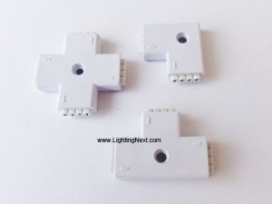 """L"", ""T"", ""+"" Shape 4 Pin Female RGB LED Connector"