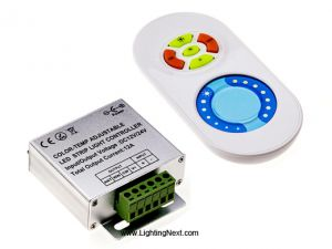 LED Dimmer with RF Touch Remote Controller for Color Temperature Adjustable LED Strip