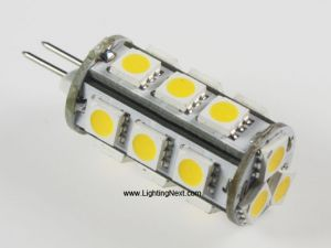 LED Tower G4 Lamp with 18 SMD 5050 LEDs, 12 Volt DC, 3.5W, Back-Pin