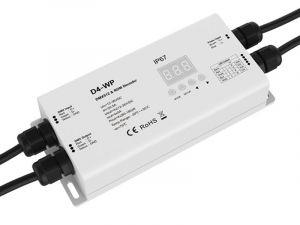 LED Waterproof DMX512 and RDM Decoder - 4 Channel - 5 Amp - 12-36V - Digital Display