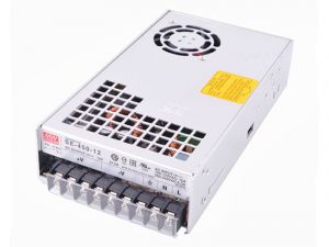 Mean Well LED Switching Power Supply - SE Series 450W Enclosed Power Supply - 12V DC