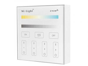 Mi Light B2 LED wall controller 2-channel CCT 4 zones 2.4GHz