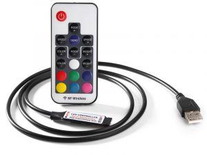 Mini USB RF Wireless Remote Controller for RGB LED Strips - DC 5-24V