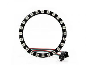 NeoPixel Ring 24 LEDs - Smart SK6812 RGB 5050 LED with Integrated Drivers