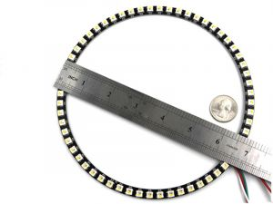 NeoPixel Ring 60 LEDs - Smart SK6812 RGBW 5050 LED w/ Integrated Drivers