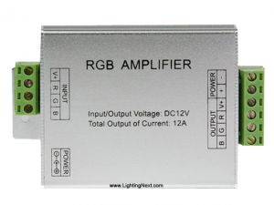 RGB Amplifier for RGB LED Light Strips, 4A/Ch, 12V DC