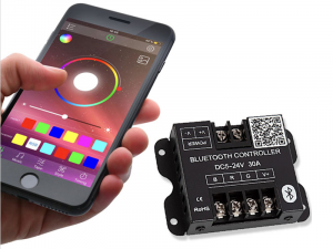 Smartphone Compatible Bluetooth Remote RGB LED Controller - 10 Amps/Channel