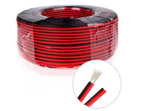 2 Pin 18/20 AWG Two Conductor Power Wire, Red/Black, Single Color LED Strip Extension Cable, Sold by Meter