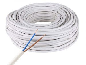 18/20 AWG Two Conductor Power Wire, White/Black, Waterproof, Single Color LED Strip Extension Cable, Sold by Meter