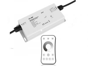 Waterproof 4 Channel Receiver with Single Color Dimming RF Remote - 5 Amps/Channel