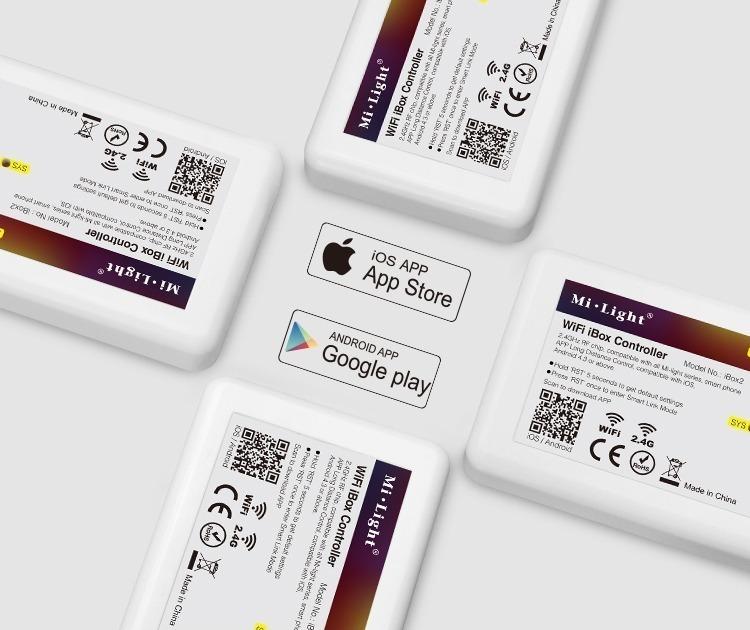 Mi.Light smart lighting controlled over 3G 4G internet WiFi